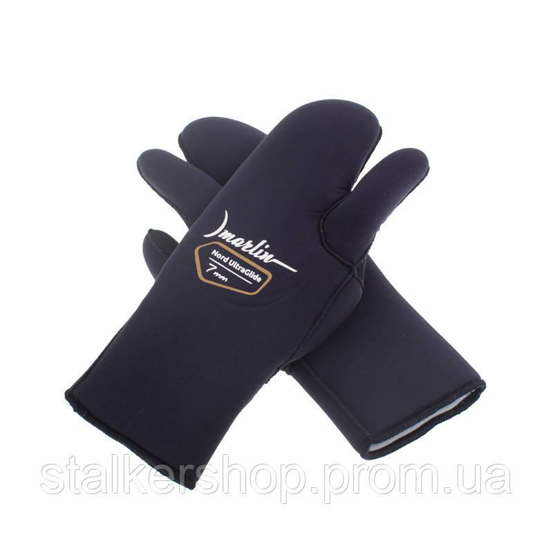 Перчатки NORD ULTRAGLIDE 3-х палые 7 мм, Marlin