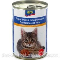 Консервы Aro для кошек 415г со вкусом курятины
