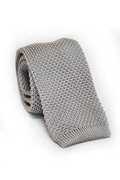 Краватка вязана сіра TK-33-19