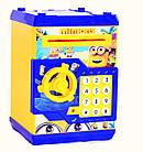 Детская копилка MINIONNE сейф с купюроприёмником Миньон с кодовым замком, фото 2