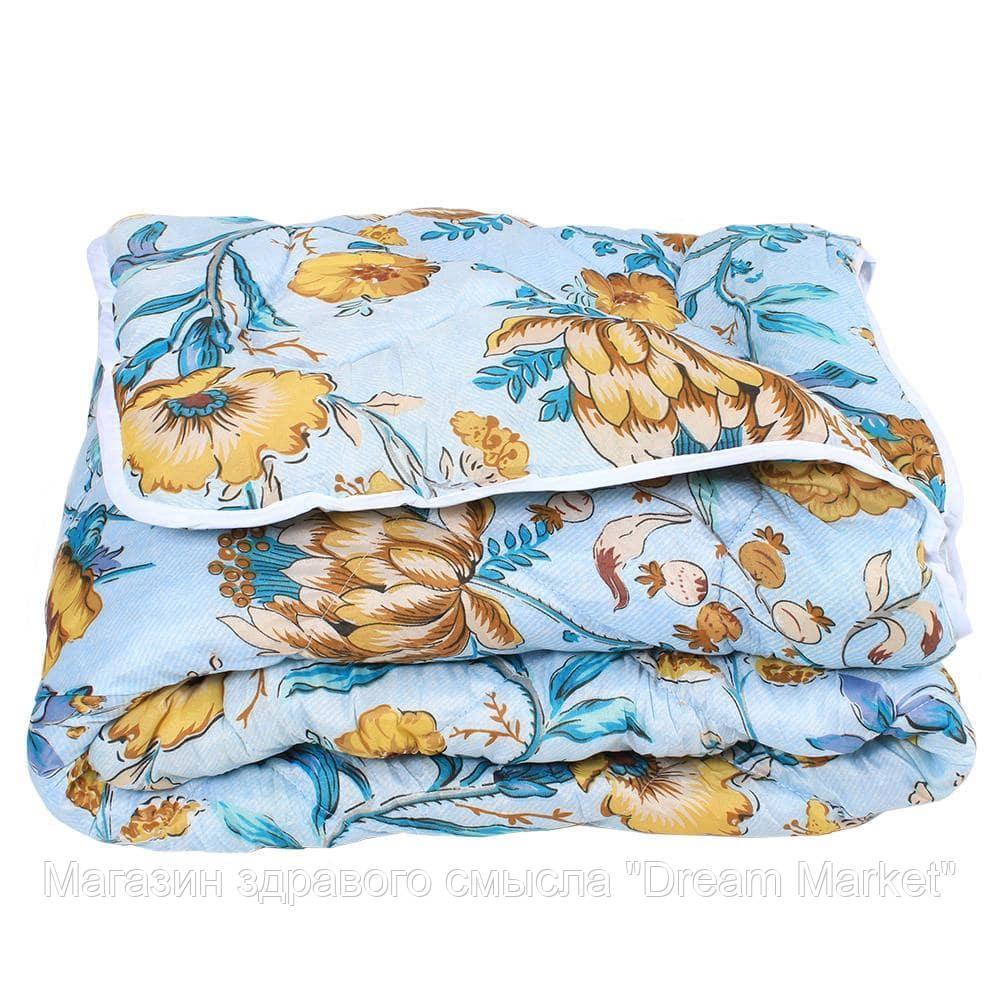 Одеяло Зимнее антиаллергенное теплое, полиэстер, наполнитель гипоаллергенное волокно, разноцветное 145х210 см