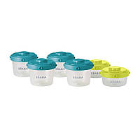 Контейнеры для хранения Beaba Clip Containers 6 шт (60 мл+120 мл), арт. 912481