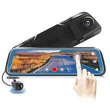 """Автомобильный видеорегистратор-зеркало L-9100, LCD 9.66"""" TOUCH SCREEN весь экран, 2 камеры, 1080P Full HD"""