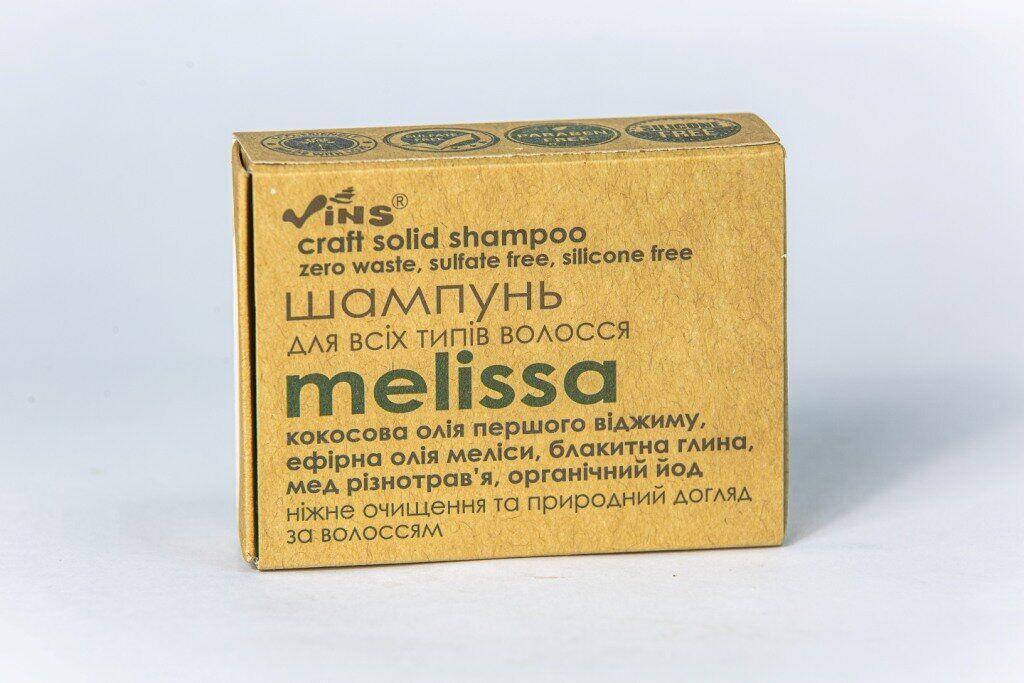 Шампунь твердый безсульфатный для всех типов волос Melissa, Vins, 85 г