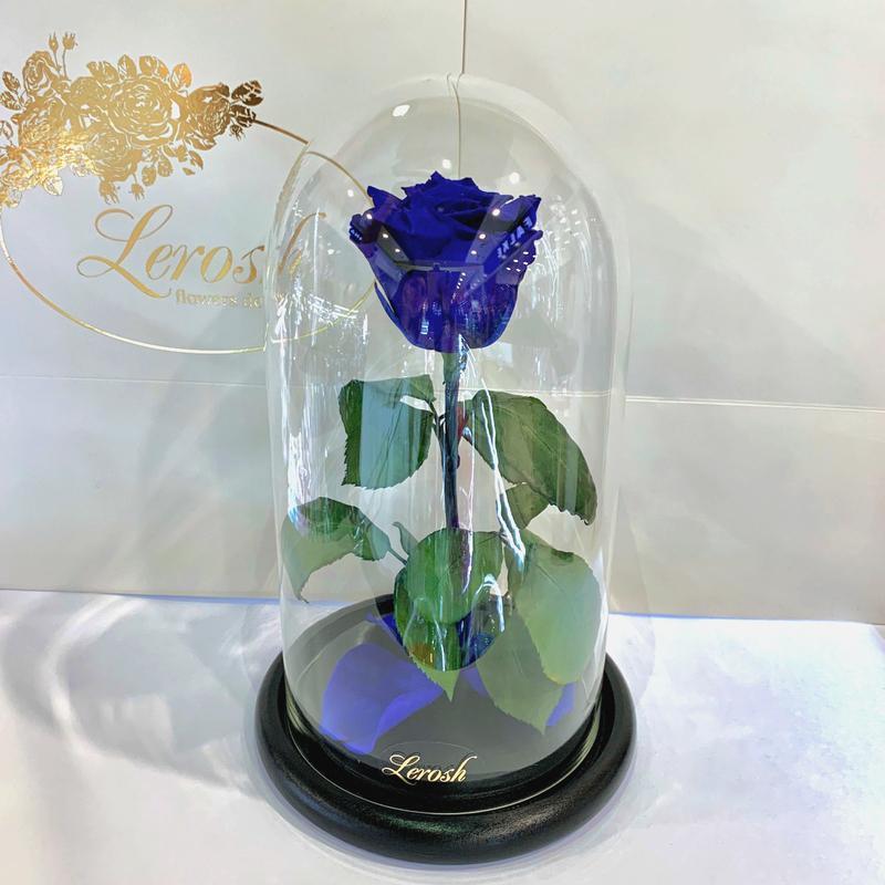 Синяя роза в колбе Lerosh - Classic 27 см SKL15-279576