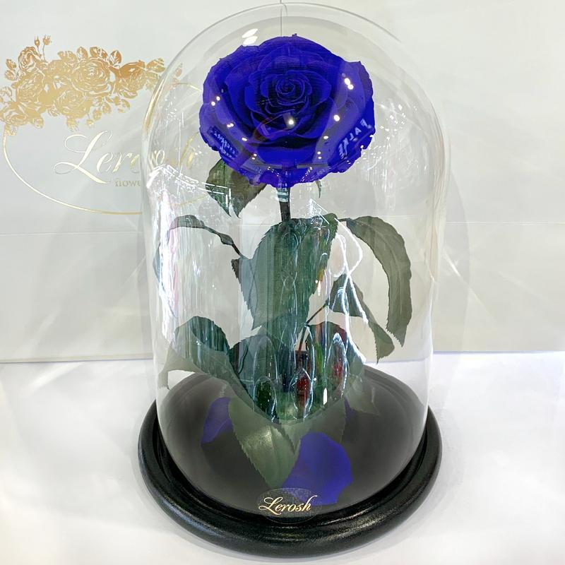 Синяя роза в колбе Lerosh - Lux 33 см SKL15-279546