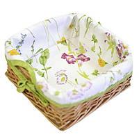 Хлебница плетеная с чехлом Прованс Весна Living 20x20 см 012715
