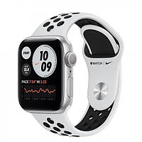 Apple Watch Series 6 Nike GPS + Cellular 40mm Silver Aluminum Case with Pure Platinum/Black Nike Sport Band (M