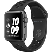 Apple Watch Series 3 Nike+ 38mm GPS Space Gray Aluminum Case with Anthracite/Black Nike Sport Band (MQKY2)