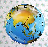 Часы для кабинета географии глобус 25 см