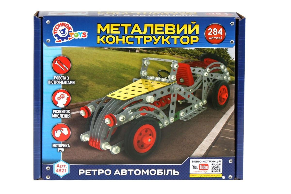 Конструктор ТехноК Ретро автомобіль металевий  в коробці 4821