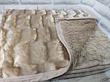 Плед покрывало Норка меховое Темно - Серый цвет Евро размер, фото 3
