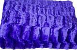 Плед покрывало Норка меховое Темно - Серый цвет Евро размер, фото 9