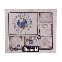 """Подарочныйковий Комплект 10 од. для мальчика. Размер: 62. индиго. TM """"MINIWORLD"""" 14123. Турция."""