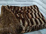 Плед покрывало Норка меховое Темно - Серый цвет Евро размер, фото 10