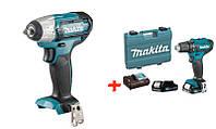 Аккумуляторный гайковерт Makita TW140DZ+аккумуляторный шуруповерт Makita DF333DWAE (TW140SET)