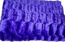 Плед покрывало Норка меховое Сине - фиолетовый  цвет  Евро размер