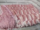 Плед покрывало Норка меховое   цвет Зеленый Евро размер, фото 9
