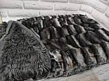 Плед покрывало Норка меховое   цвет Топленое Молоко  Евро размер, фото 6