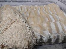 Плед покрывало Норка меховое   цвет Топленое Молоко  Евро размер