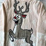 Теплый новогодний свитер на девочку15. Размер 2 года, 3 года, 4 года, 5 лет, 6 лет, фото 2