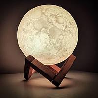 Настольный Светильник Ночник Луна 3D Moon Lamp Премиум Качества