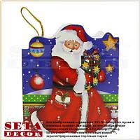 """Новогодняя поздравительная мини-открытка """"Звездный Дед Мороз"""""""