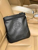 Сумка мужская BMW через плечо почтальенка брендовая копия высокого качества