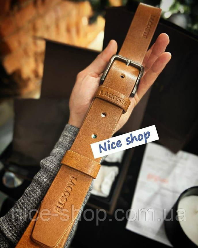 Ремень кожаный Lacoste, фото 2