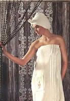 Набор для бани и сауны Турецкого производства белый цвет, фото 1