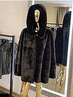 Шуба з норки Nafa в чорному кольорі, розмір 46/50