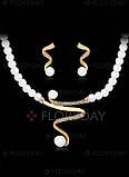 Набор Fashion Jewelry Abaccio P255  Жемчуг бусы+браслет+серьги. Распродажа!, фото 9