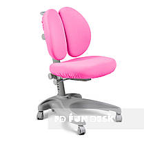 Комплект для школьника 👨🏫 парта-трансформер Fundesk Colore Grey + эргономичное кресло FunDesk Solerte Pink, фото 3