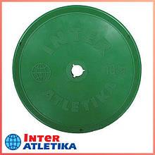Диск цветной в пластиковой оболочке INTER ATLETIKA 10 кг