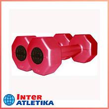 Гантели пластиковые цветные INTER ATLETIKA 2 кг