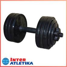 Гантель наборная InterAtletika ST530.15 черный (15 кг)