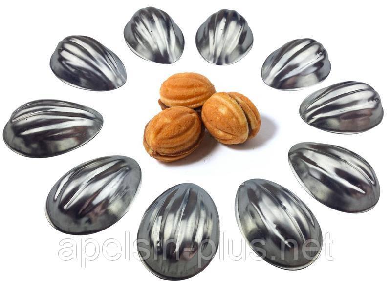 Форма для выпечки Орешков порционные 5,0 см на 3,8 см (набор 10 штук)