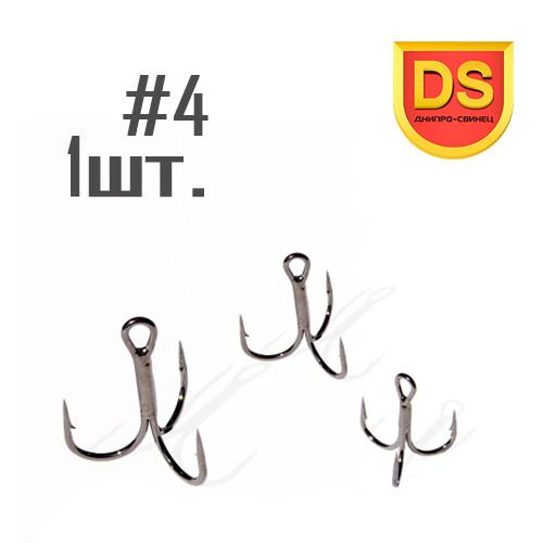 Тройной крючок ST-36 №4 Днипро-Свинец (1 шт.)