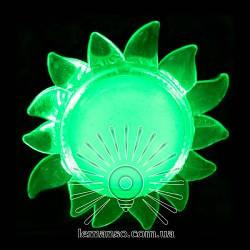 Ночник Lemanso Солнце зелёный 4 LED / NL8