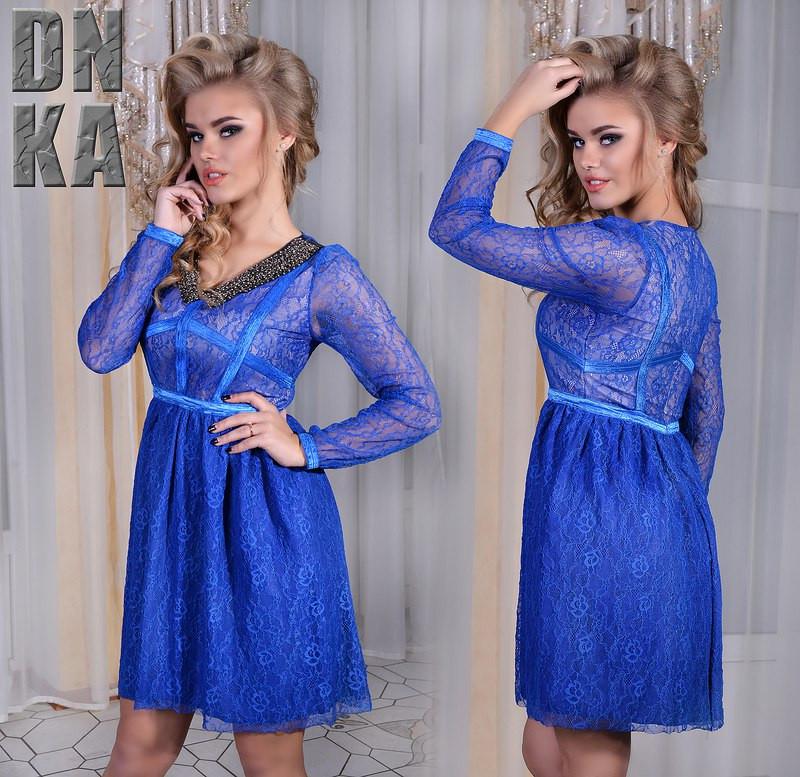 """Д3072 Гипюровое платье """"Азиза"""""""