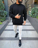 Мужской свитер оверсайз чёрный ( Турция ), фото 1