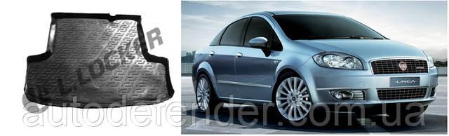 Коврик в багажник для Fiat Linea 2007-2015, резино-пластиковый (Lada Locker)