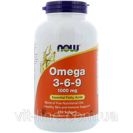 Now Foods омега 3-6-9, 1000 мг, 250 мягких таблеток, фото 2