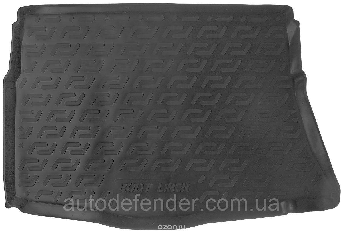 Коврик в багажник для Kia Ceed 2012-2018 хетчбэк без органайзера, резино-пластиковый (Lada Locker)