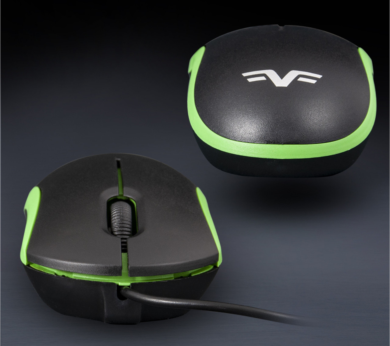 Мышь проводная Frime FM-010 Black/Green USB