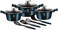 Кухонный набор посуды для кухни Berlinger Haus Aquamarine Edition 3 кастрюли и аксессуары
