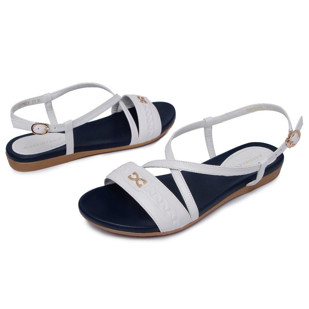 BASSIRIANA - женские сандалии на плоской подошве натуральная кожа