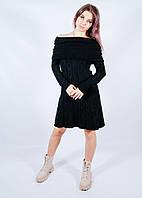 Теплое вязаное платье с открытыми плечами Finery, размер L/XL, арт. 66-1688