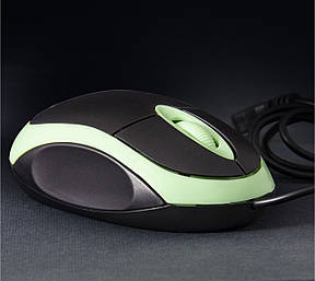 Мышь проводная Frime FM-001 Black/Green USB, фото 2