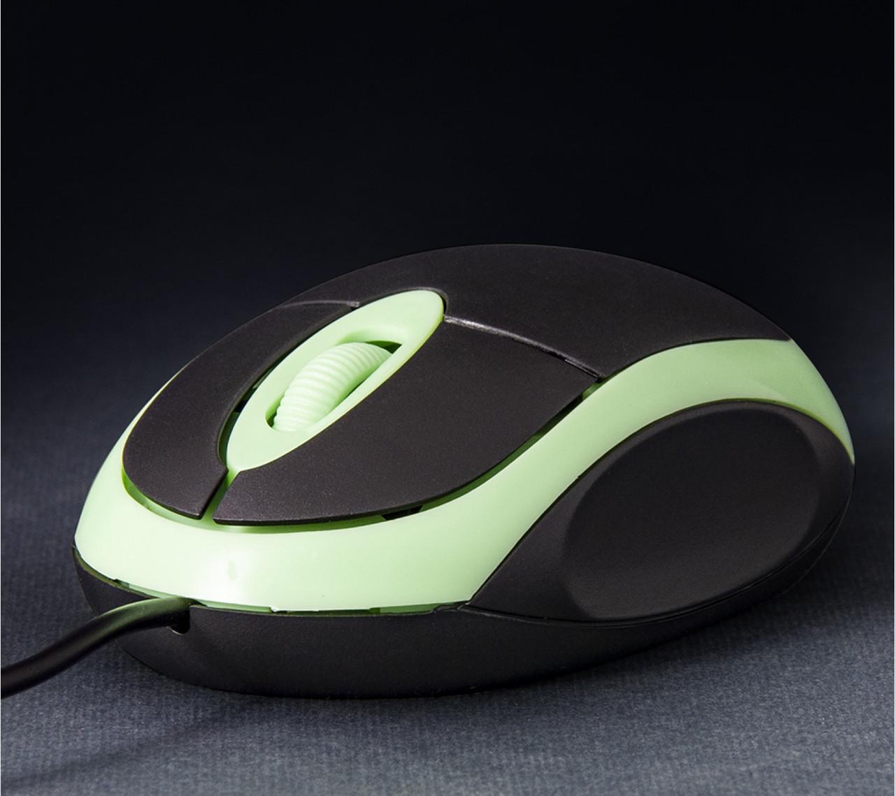 Мышь проводная Frime FM-001 Black/Green USB